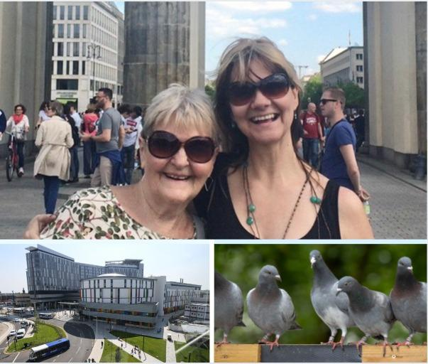 Gail Armstrong, pictured with daughter Sandie on holiday in Berlin in April 2018. She went on to contract Cryptococcus neoformans in November that year, during treatment at the QEUH in Glasgow