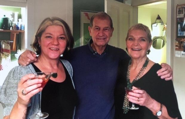 HeraldScotland: Gail Armstrong (right) with husband Jim Cowan and daughter Beth