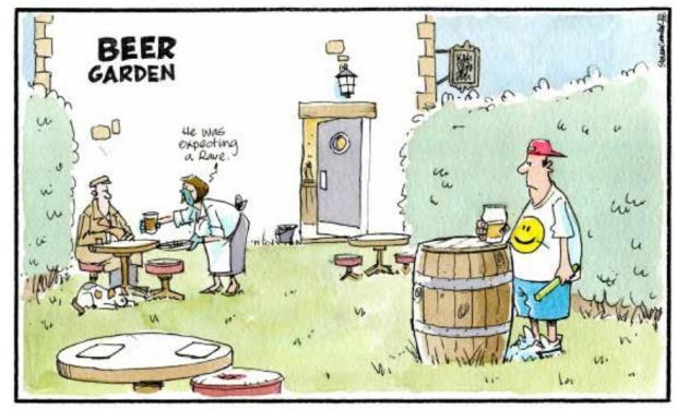 HeraldScotland: Camley's Cartoon: Beer gardens re-open