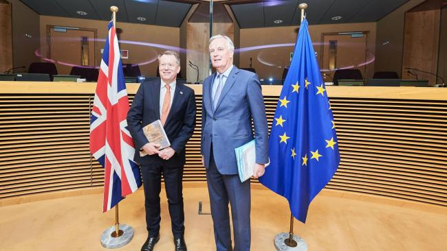 Michel Barnier travels to London for Brexit trade deal talks