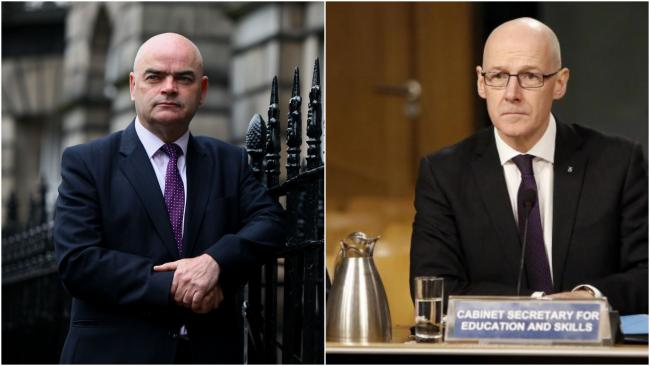 Larry Flanagan and John Swinney