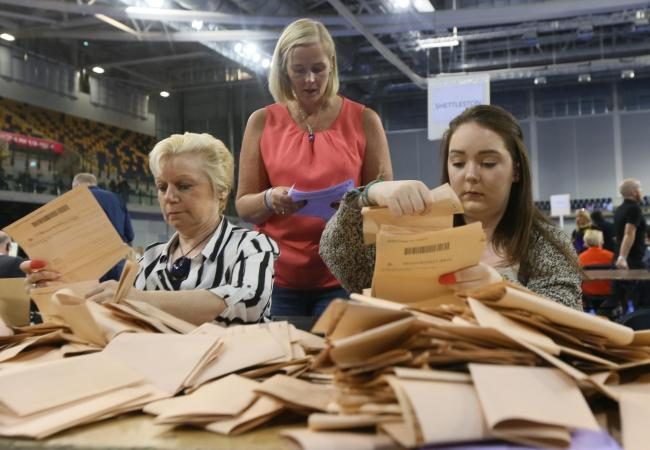 Votes in the 2016 Scottish Parliament election are counted at the Emirates, Glasgow. There could be a new party standing in the 2021 contest