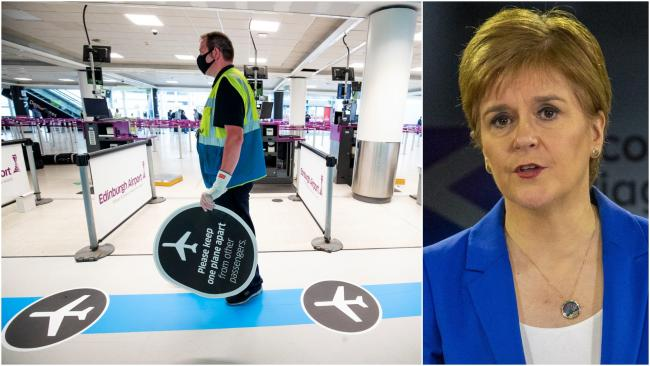Nicola Sturgeon has warned quarantine rules could change while people are away on holiday