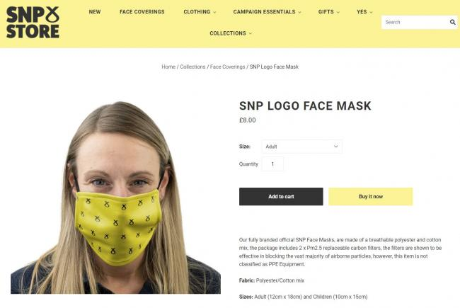 Sturgeon's husband urged to end SNP's 'tasteless' sale of face masks