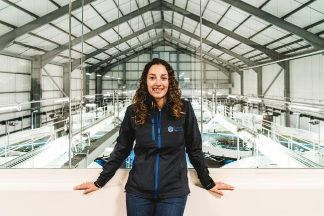 Scottish Sea Farms' operations manager for Barcaldine RAS Hatchery, Noelia Rodriguez