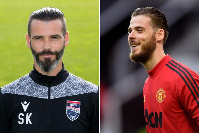Man United superstar David De Gea shocked after spotting lookalike Ross County boss Stuart Kettlewell