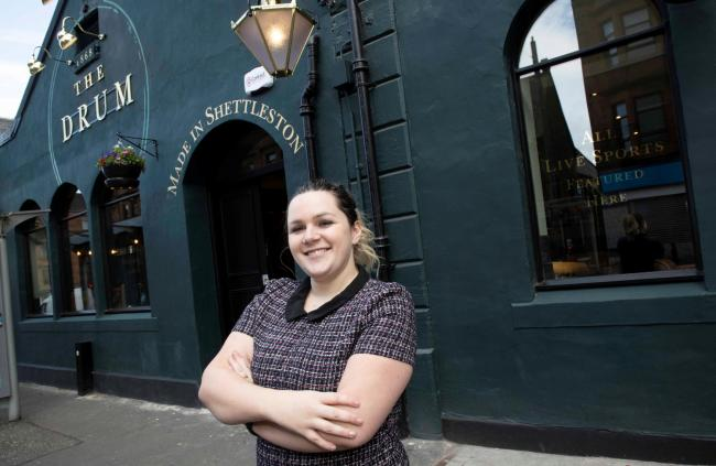 Shannon Eadie, manager of The Drum, Shettleston