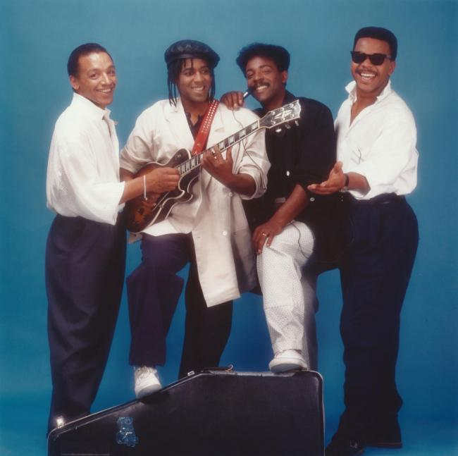 The Real Thing comprised, left to right, Ray Lake, Eddy Amoo, Chris Amoo and Dave Smith.