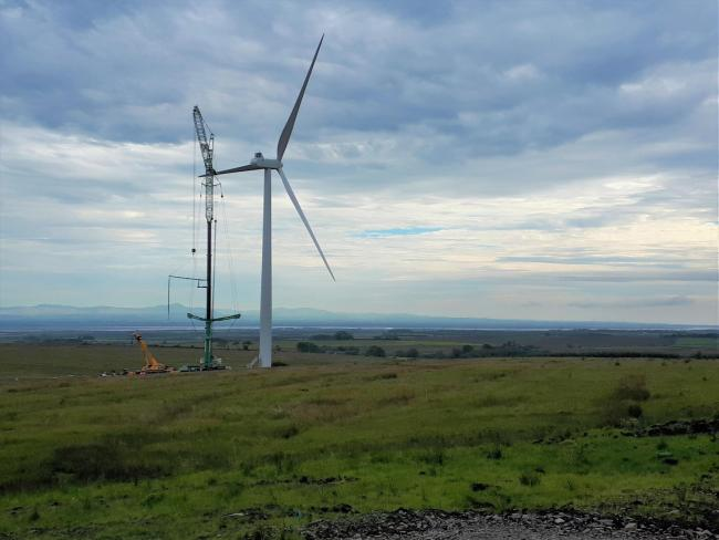 Work on the Solwaybank windfarm in southern Scotland is in progress Picture: Renewables Infrastructure Group