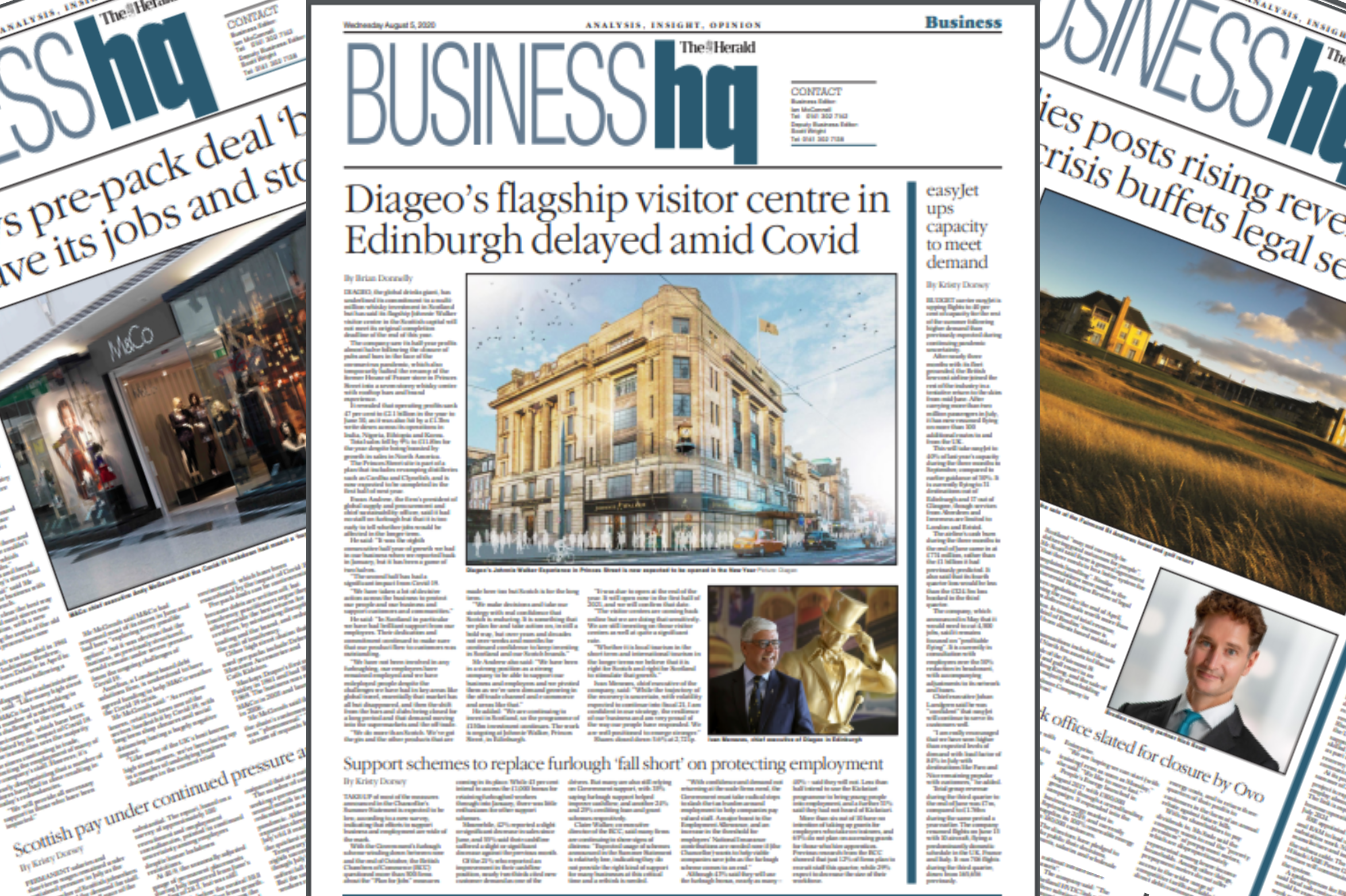 Jobs lost as Glasgow 'institution' stays closed | Rangers FC sells 30,000 tops in 48 hours | Diageo's Johnnie Walker whisky centre delayed
