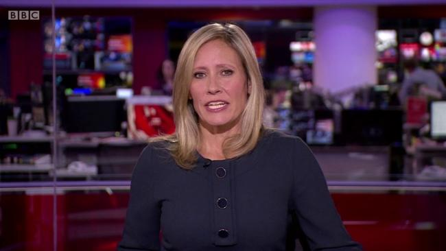 Sophie Raworth anchored the BBC News at Ten Bulletin on Tuesday