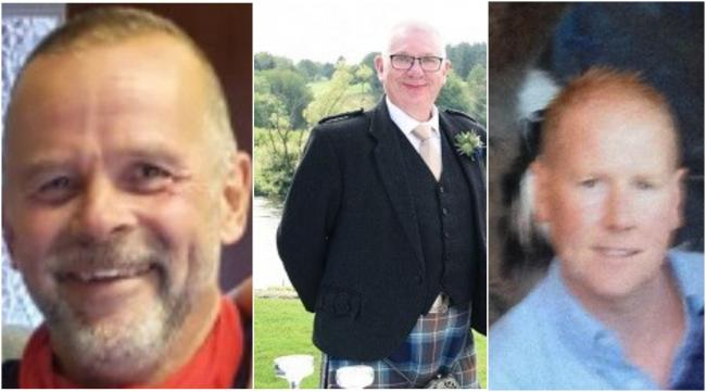 Christopher Stuchbury, Donald Dinnie and Brett McCullough have been named by police