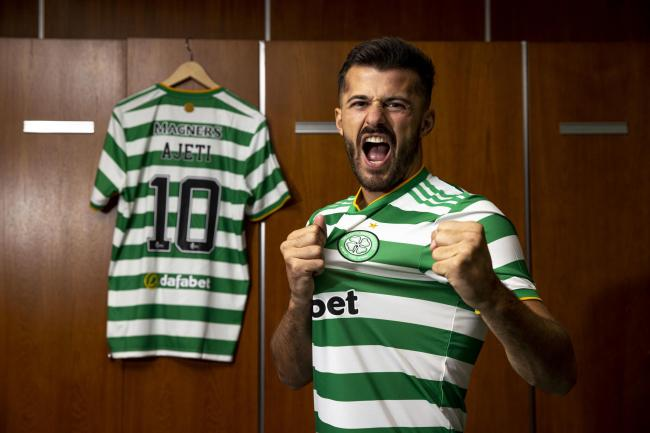 GLASGOW, SCOTLAND - AUGUST 13: Celtic announce the signing of Swiss forward Albian Ajeti on a four-year-deal at Celtic Park, on August 13, 2020, in Glasgow, Scotland. .(Craig Williamson / SNS Group).