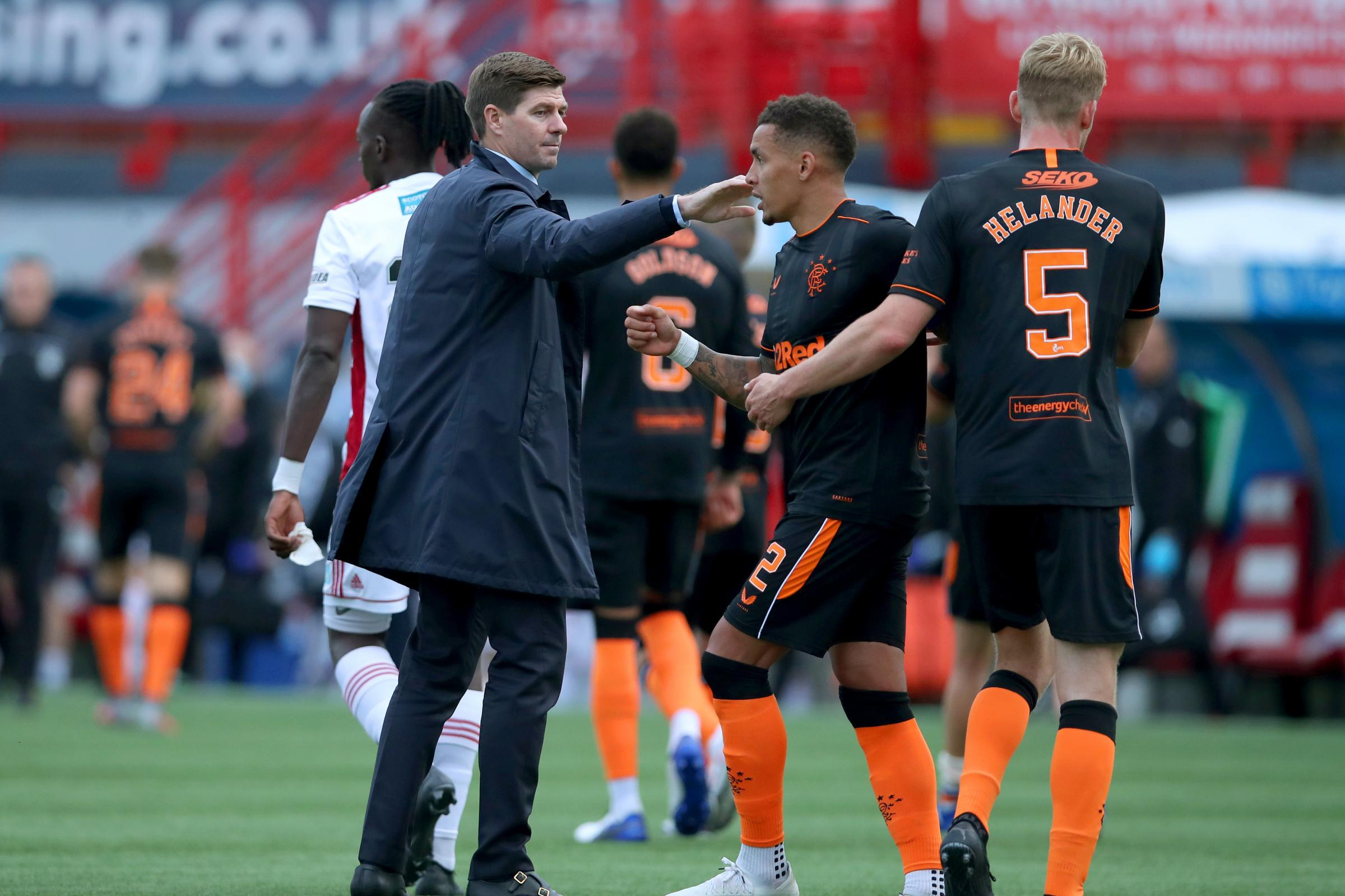 Steven Gerrard to address final third concerns as Rangers ease to win over Hamilton