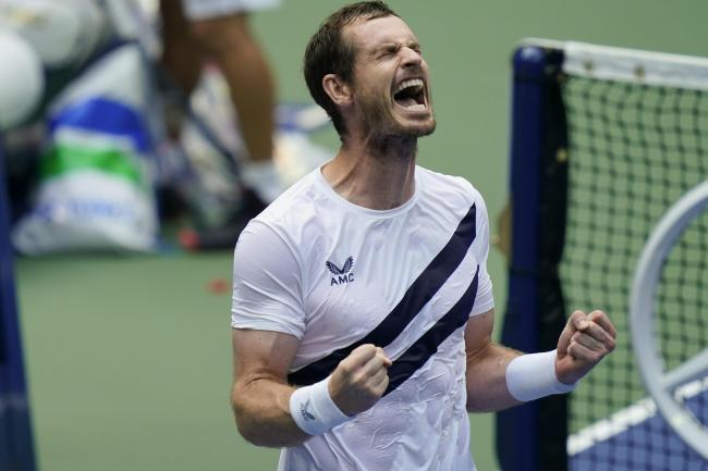 Andy Murray (pictured) beat Yoshihito Nishioka in five sets