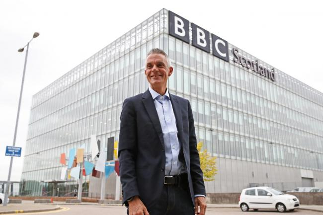 Tim Davie, new Director General of the BBC, arrives at BBC Scotland in Glasgow for his first day in the role..