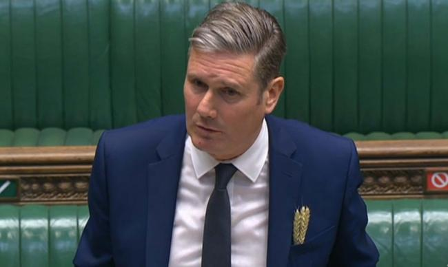 Sir Keir Starmer pictured during Prime Minister's Questions on Wednesday