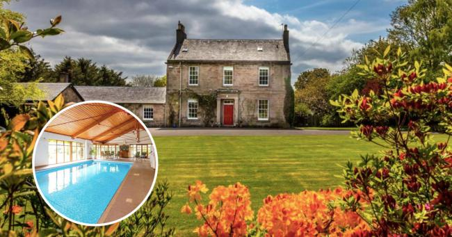 IN PICTURES: Incredible £1m Ayrshire mansion with indoor swimming pool, tennis court and golf course goes on market