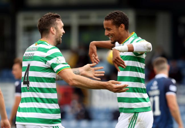 Scott Brown playfully roasts Celtic's Jullien after Shane Duffy wiped him out for Ross County goal