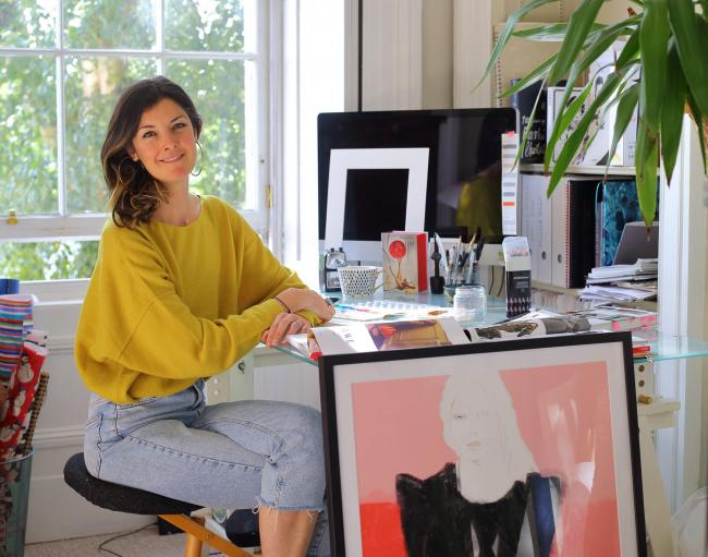 Fashion illustrator Francesca Waddell at her home in Glasgow Pictures: Colin Mearns