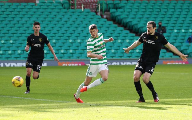 Ryan Christie scores Celtic's second goal of the afternoon