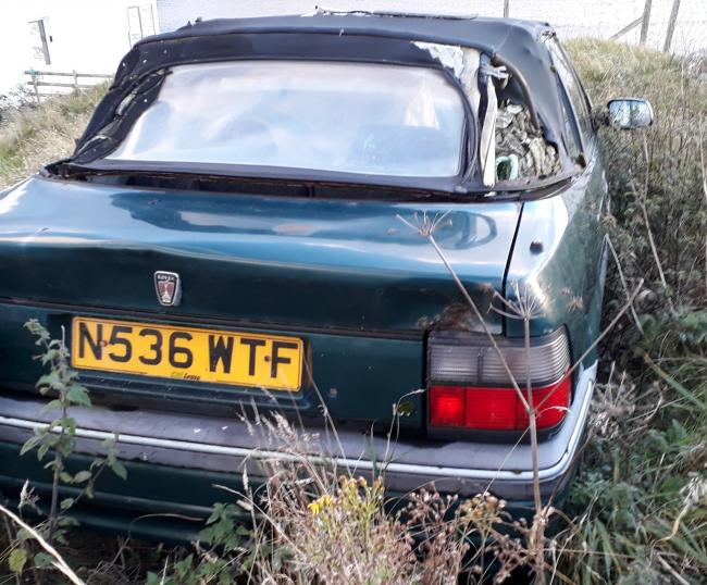 David Donaldson spotted this abandoned car on the Isle of Lewis. He believes the vehicle's registration of resignation adequately sums up how it must be feeling about its flummoxed fate.
