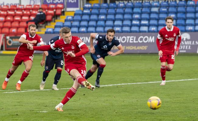 Lewis Ferguson scores the first of two penalties as Aberdeen cruised to victory in Dingwall