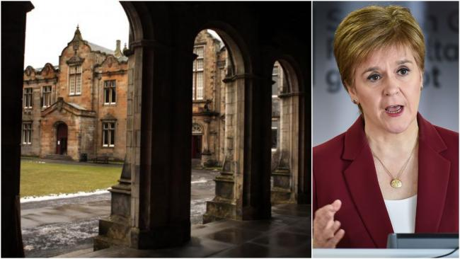 Nicola Sturgeon thanked the 'vast majority' of students for following rules