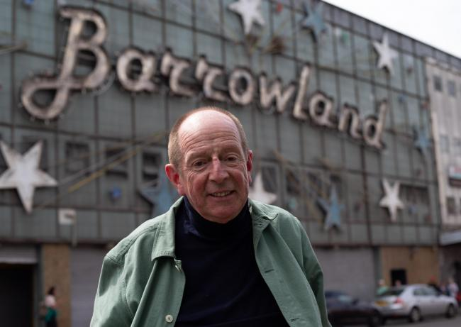 Tom Joyes pictured outside the Barrowland on Glasgow's Gallowgate