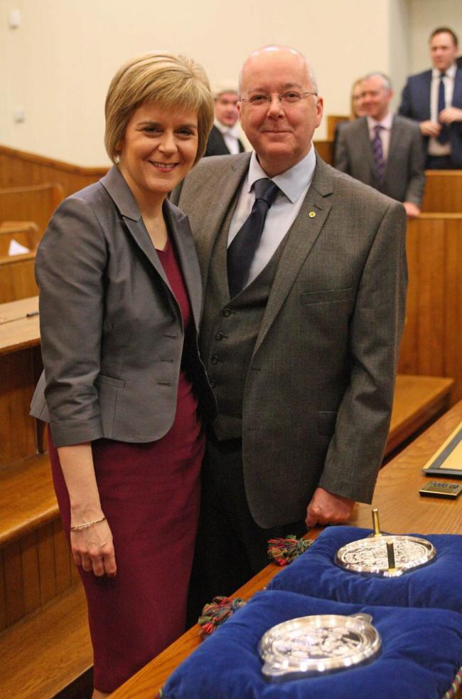 Nicola Sturgeon with her husband, SNP chief executive Peter Murrell