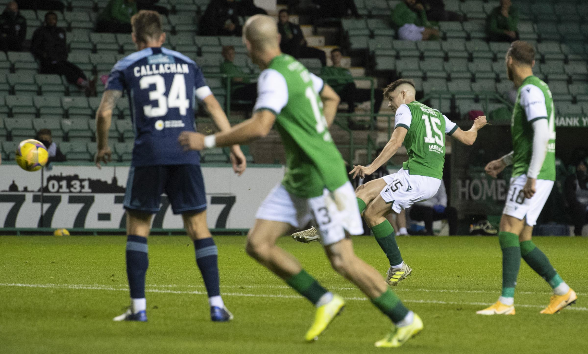 Hibernian 3-2 Hamilton: Nisbet at the double as Hibs survive late scare