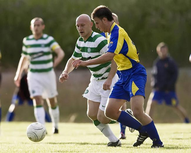Tommy Gravesen running the midfield against Albion Rovers