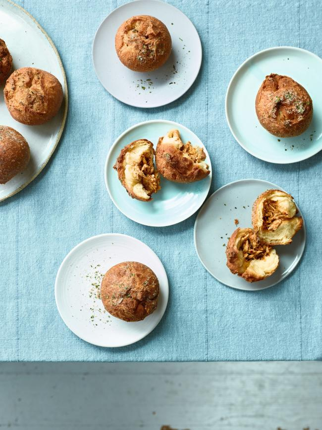 Undated Handout Photo of pulled chicken doughnuts from Nadiya Bakes by Nadiya Hussain (Michael Joseph, 22). See PA Feature FOOD Recipe Doughnuts. Picture credit should read: PA Photo/Chris Terry. WARNING: This picture must only be used to accompany PA Fea