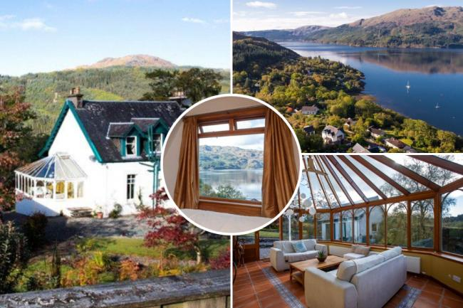 Room with a view? Five-bedroom traditional dream in idyllic lochside village appears on market