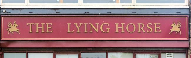Alan Potter spotted this pub sign in Barrhead and wonders what the nag is lying about. Maybe the promise of a refreshing drink, which certainly won't be available for a while at least.