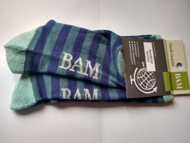 Carol Foote was sent this pair of socks from Bamboo Clothing. It would seem that the company is unaware of the glorious Glesga patter. Such a glaring lack of elementary knowledge seems likely to hamper the potential sales of fuzzy footwear in the city