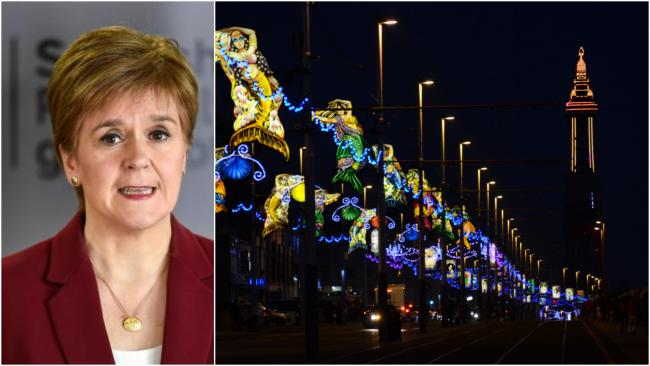 'The rate of Covid-19 in Blackpool is lower than parts of Scotland': Business leader hits back at Nicola Sturgeon