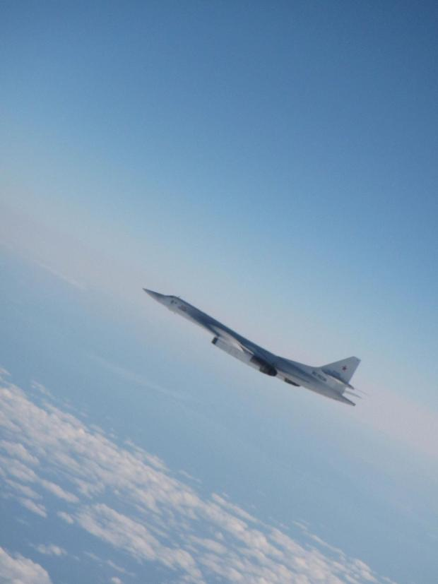 HeraldScotland: One of two Russian Tu-160 Blackjack bombers that were detected by NATO air defence radars.