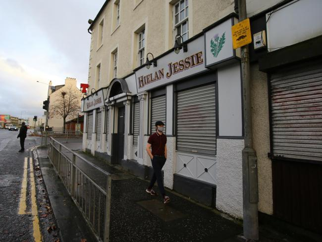 The Hielan Jessie bar, like all others in the Central Belt, is closed until at least November 5. Picture: Colin Mearns