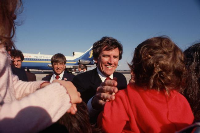 Gary Hart on the campaign trail