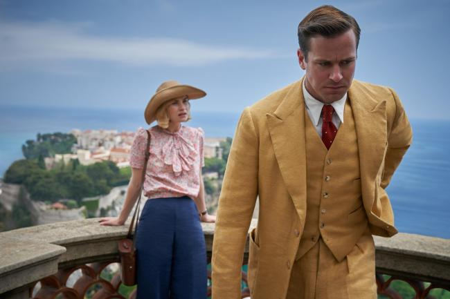 Lily James (left) and Armie Hammer in Rebecca