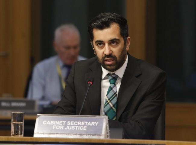 Humza Yousaf, Cabinet Secretary for Justice appears before the Justice Committee to give evidence on the Hate Crime and Public Order (Scotland) Bill at Stage 1. 27 October 2020. Pic Andrew Cowan/Scottish Parliament.