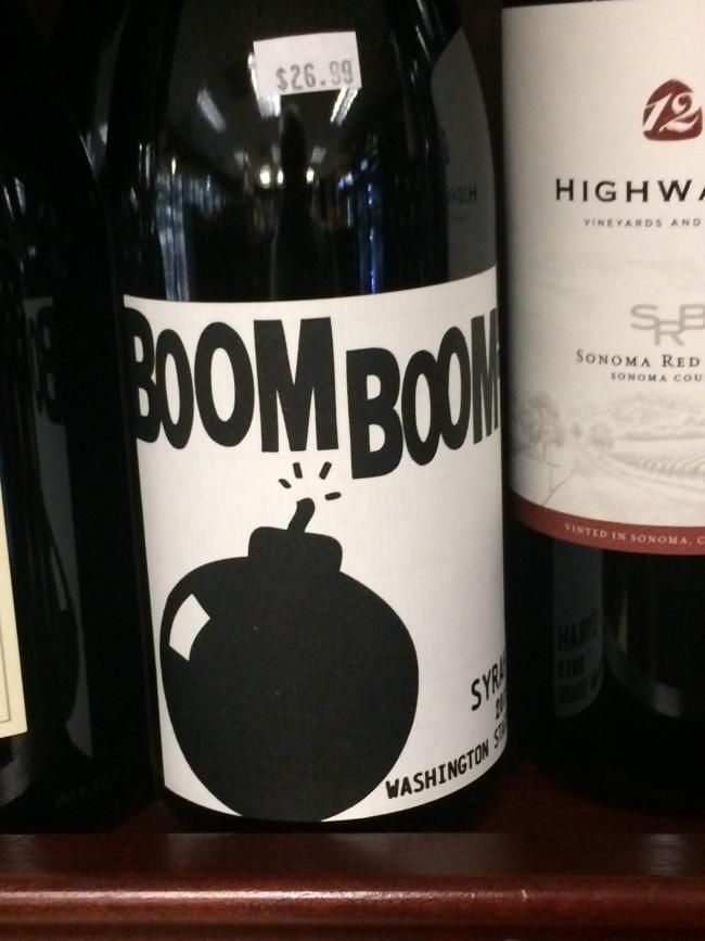 John Sim spotted this bottle of wine while holidaying in San Francisco at the beginning of the year. He wonders if it's the favourite tipple of that vino guzzling fox (allegedly) boozy Basil Brush.