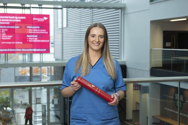Coronavirus Scotland: Edinburgh-based student nurse credits Covid for award