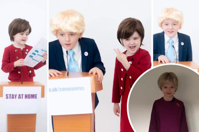 Scots kids impress with Halloween Nicola Sturgeon & Boris Johnson getups