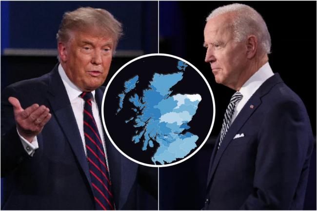 Biden or Trump: How would your local constituency vote in the US election?