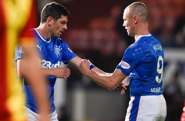 Graham Dorrans, left, and Kenny Miller used to be team-mates at Rangers