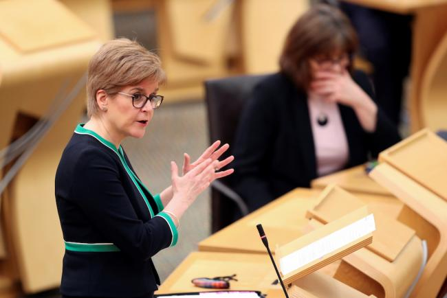 First Minister Nicola Sturgeon will announce her lockdown exit strategy this afternoon