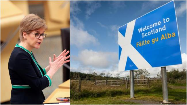 Nicola Sturgeon will role out a travel ban from Friday at 6pm.