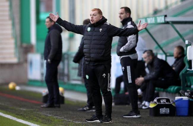 Celtic manager Neil Lennon at Easter Road.